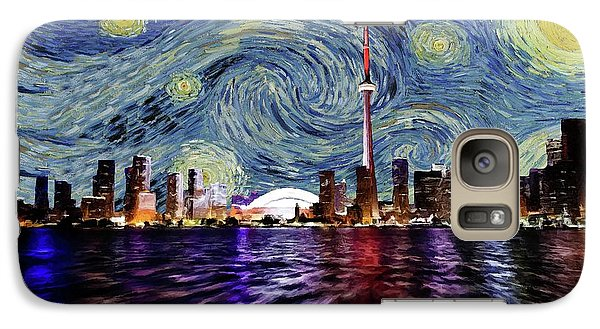 Galaxy Case featuring the painting Starry Night Toronto Canada by Movie Poster Prints