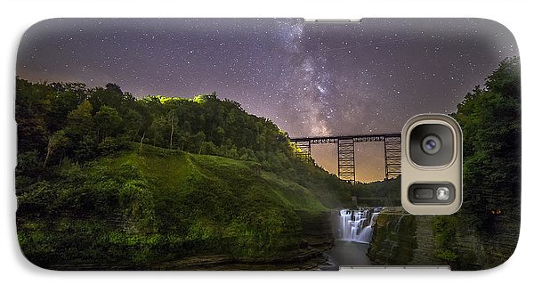 Galaxy Case featuring the photograph Starry Sky At Letchworth by Mark Papke