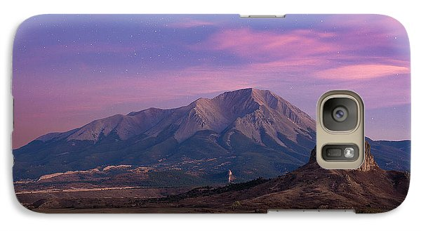 Galaxy Case featuring the photograph Starry Sunset Over West Spanish Peak by Aaron Spong