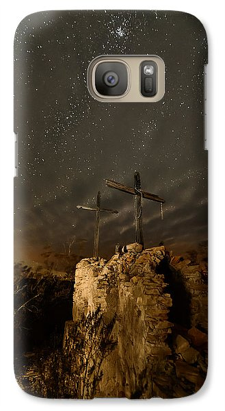 Galaxy Case featuring the photograph Stars And Crosses by Allen Biedrzycki