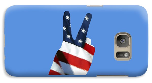 Galaxy Case featuring the photograph Stars And Stripes Peace Sign .png by Al Powell Photography USA