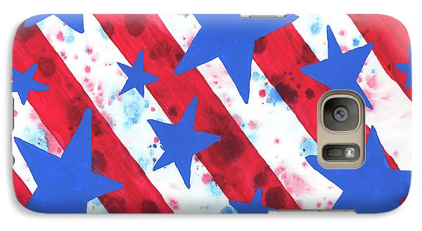 Galaxy Case featuring the painting Stars And Strips  by Darice Machel McGuire