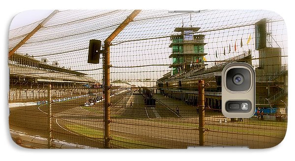 Galaxy Case featuring the photograph Start Finish Indianapolis Motor Speedway by Iconic Images Art Gallery David Pucciarelli