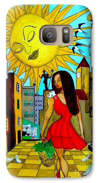 Galaxy Case featuring the painting Starting A New Day by Don Pedro De Gracia