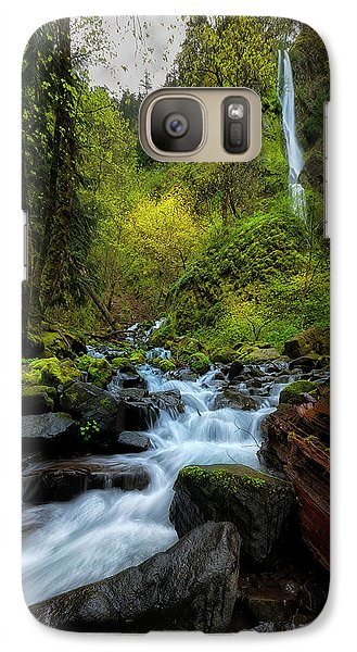 Galaxy Case featuring the photograph Starvation Creek And Falls by Ryan Manuel
