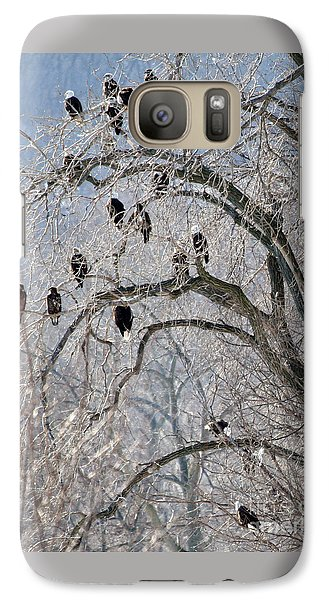 Galaxy Case featuring the photograph Starved Rock Eagles by Paula Guttilla