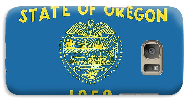 State Flag Of Oregon Galaxy S7 Case by American School