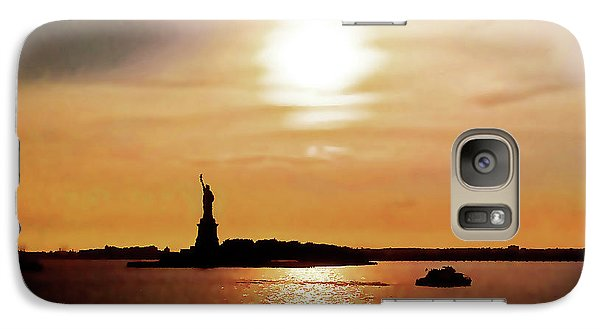 Statue Of Liberty At Sunset Galaxy S7 Case