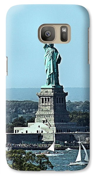 Galaxy Case featuring the photograph Statue Of Liberty by Kristin Elmquist
