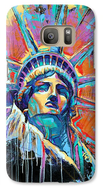 New York City Galaxy S7 Case - Statue Of Liberty New York Art Usa by Damon Gray