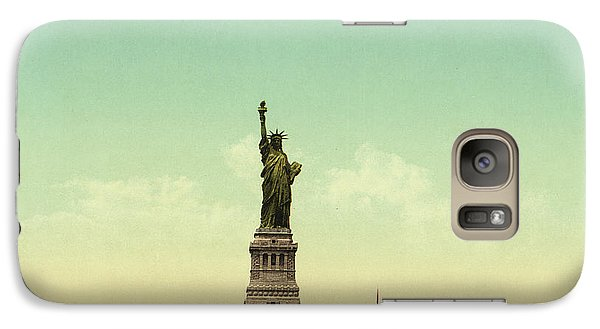Statue Of Liberty, New York Harbor Galaxy S7 Case by Unknown