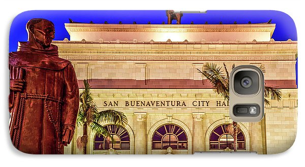 Galaxy Case featuring the photograph Statue Of Saint Junipero Serra In Front Of San Buenaventura City Hall by John A Rodriguez