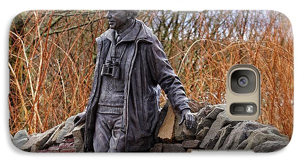 Galaxy Case featuring the photograph Statue Of Tom Weir by Jeremy Lavender Photography