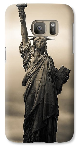 Statute Of Liberty Galaxy S7 Case by Tony Castillo