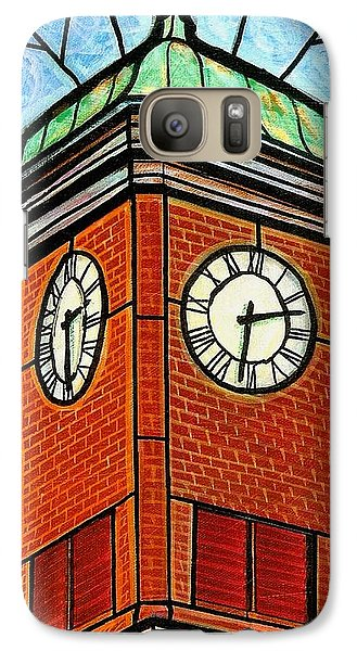 Galaxy Case featuring the painting Staunton Clock Tower Landmark by Jim Harris