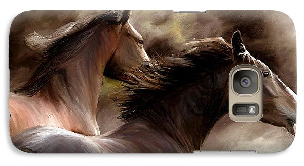 Galaxy Case featuring the painting Stay Together by James Shepherd