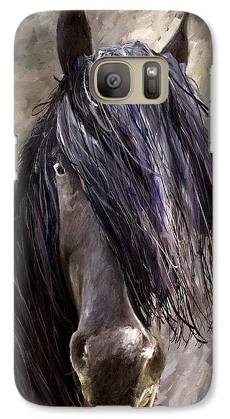 Galaxy Case featuring the painting Steady by James Shepherd