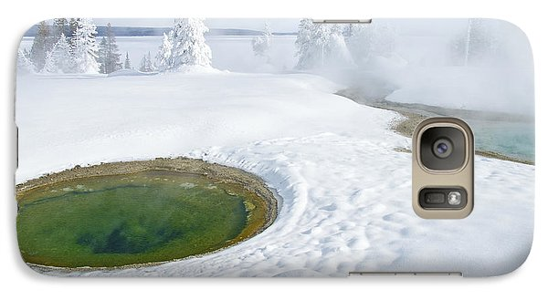 Galaxy Case featuring the photograph Steam And Snow by Gary Lengyel
