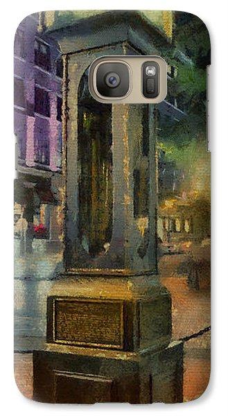 Galaxy Case featuring the digital art Steam Clock Gastown by Jim  Hatch