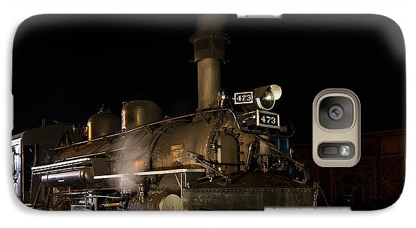 Galaxy Case featuring the photograph Locomotive And Coal Tender On A Turntable Of The Durango And Silverton Narrow Gauge Railroad by Carol M Highsmith