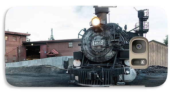 Galaxy Case featuring the photograph Steam Locomotive In The Train Yard Of The Durango And Silverton Narrow Gauge Railroad In Durango by Carol M Highsmith