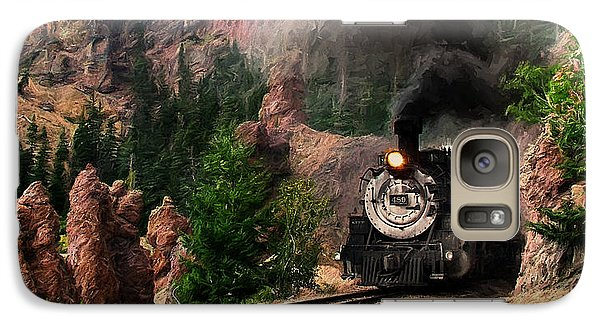 Galaxy Case featuring the photograph Steam Through The Rock Formations by Ken Smith