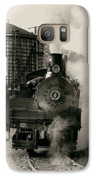 Galaxy Case featuring the photograph Steam Train by Jerry Fornarotto