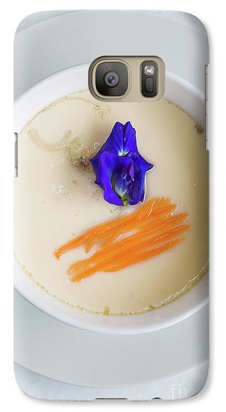 Galaxy Case featuring the photograph Steamed Egg by Atiketta Sangasaeng