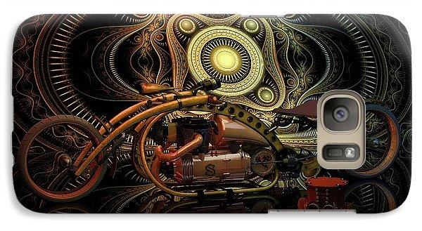 Galaxy Case featuring the photograph Steampunk Chopper by Louis Ferreira