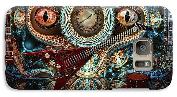 Galaxy Case featuring the digital art Steampunk Guitar by Louis Ferreira