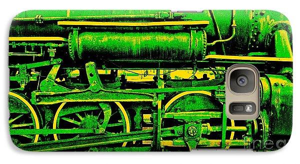 Galaxy Case featuring the digital art Steampunk Iron Horse No. 3 by Peter Gumaer Ogden
