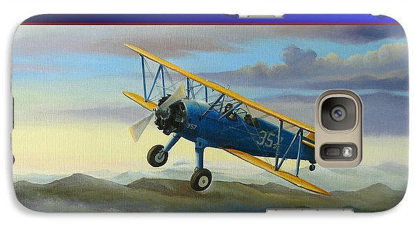 Galaxy Case featuring the painting Stearman Christmas Card by Stuart Swartz