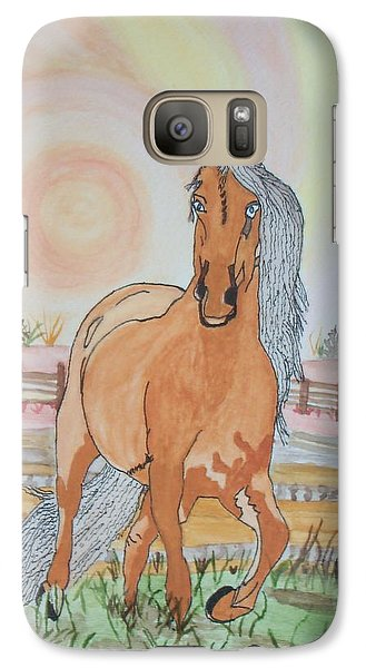 Galaxy Case featuring the painting Stech Of A Horse by Connie Valasco