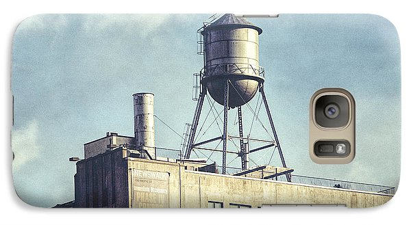 Galaxy Case featuring the photograph Steel Water Tower, Brooklyn New York by Gary Heller
