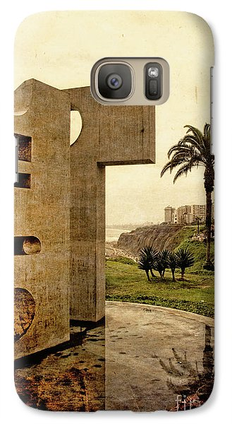 Galaxy Case featuring the photograph Stelae In The Park - Miraflores Peru by Mary Machare
