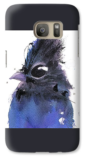 Galaxy Case featuring the painting Steller Jay by Dawn Derman