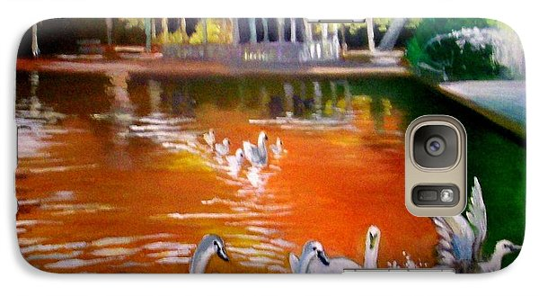 Galaxy Case featuring the painting Stephens Green Dublin Ireland by Paul Weerasekera