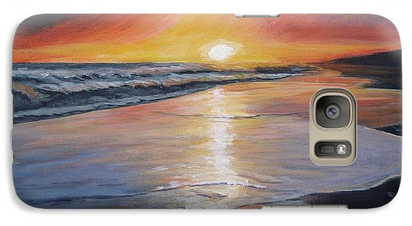 Galaxy Case featuring the painting Stephanie's Sunset by Donna Tuten