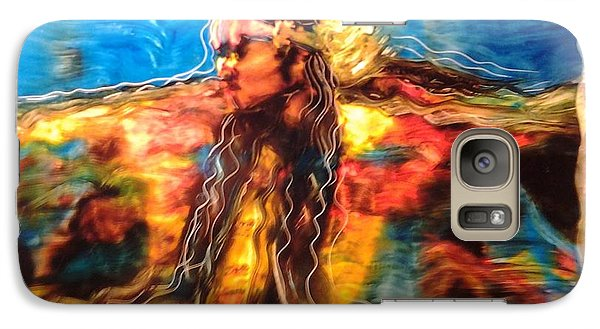 Galaxy Case featuring the painting Stepping Into The Soul by FeatherStone Studio Julie A Miller