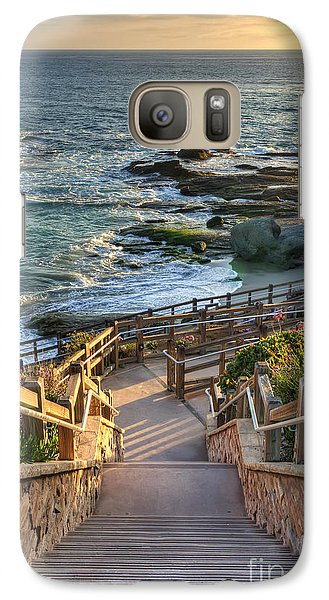 Galaxy Case featuring the photograph Steps To Treasure Island Beach by Eddie Yerkish