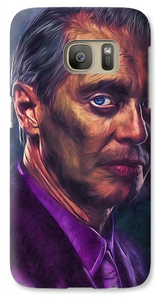 Galaxy Case featuring the photograph Steve Buscemi Actor Painted by David Haskett