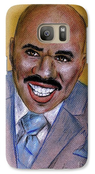 Galaxy Case featuring the drawing Steve Harvey by P J Lewis