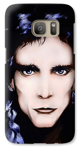 Galaxy Case featuring the painting Steve Vai by Curtiss Shaffer