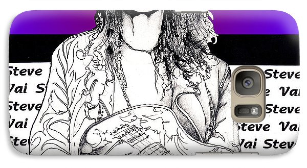 Galaxy Case featuring the mixed media Steve Vai Sitting by Curtiss Shaffer