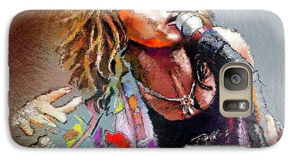 Steven Tyler 02  Aerosmith Galaxy S7 Case by Miki De Goodaboom