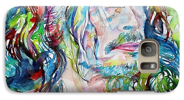Steven Tyler - Watercolor Portrait Galaxy S7 Case