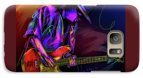 Galaxy Case featuring the painting Stevie Ray Vaughan by DC Langer