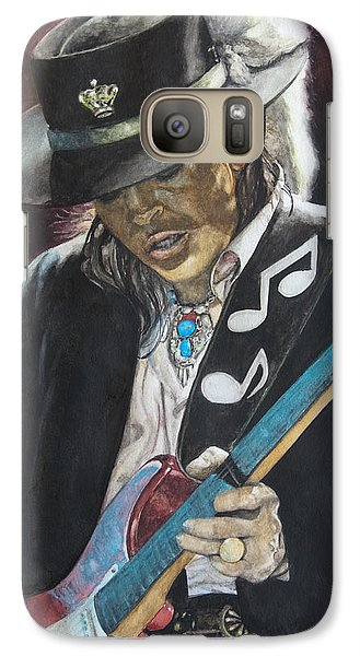 Galaxy Case featuring the painting Stevie Ray Vaughan  by Lance Gebhardt