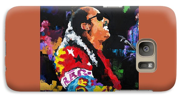 Galaxy Case featuring the painting Stevie Wonder Live by Richard Day