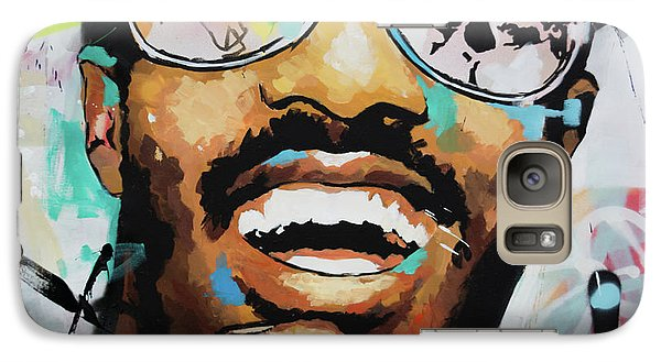 Galaxy Case featuring the painting Stevie Wonder Portrait by Richard Day